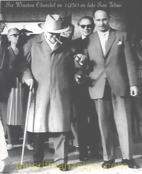 Winston Churchill und Aristóteles Onassis / 21. Februar 1950